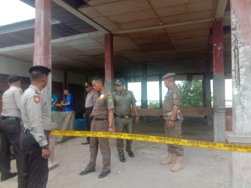 Pasar Ikan Teluk Belitung Dipasang 'Police Line'