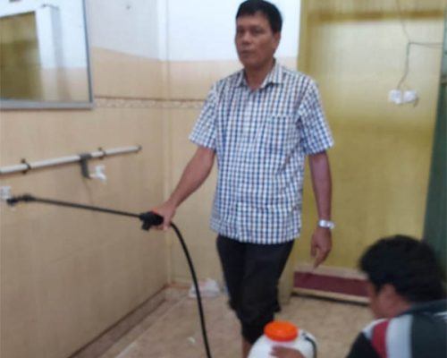 Cegah Corona, DPD NasDem Kuansing Gelar Goro dan Semprotkan Disinfektan