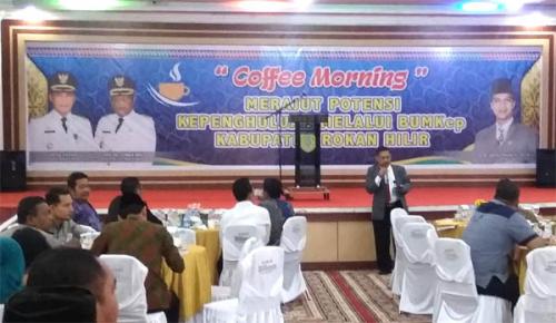 Dinas PMD Rohil Taja Coffee Morning Merajut 'Potensi Kepenghuluan dan Badan Usaha Kepenghuluan'