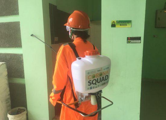 Corona Squad, Semprot Masjid dan Kantor Muhammadiyah Pekanbaru