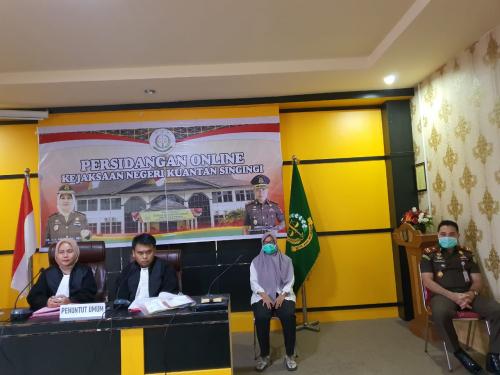Antisipasi Penyebaran Covid-19, Kejari Kuansing Laksanakan Sidang Secara Online