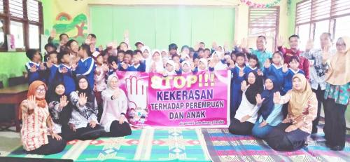 Dinsos P3AP2KB Kepulauan Meranti Beri Edukasi akan Kejahatan Seksual Terhadap Anak di SD 21 Sesap